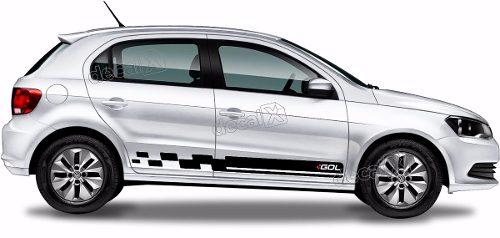 Adesivo Faixa Lateral Volkswagen Gol G6 Racing Gol05
