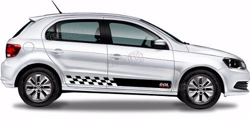Adesivo Faixa Lateral Volkswagen Gol G6 Sporting Gol06
