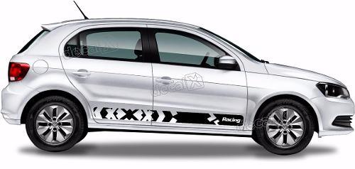 Adesivo Faixa Lateral Volkswagen Gol Racing G6 Gol07