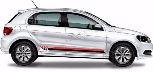 Adesivo Faixa Lateral Volkswagen Gol G6 Sport Gol12