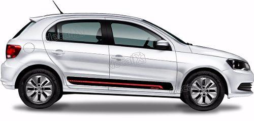 Adesivo Faixa Lateral Volkswagen Gol G6 Power Gol11
