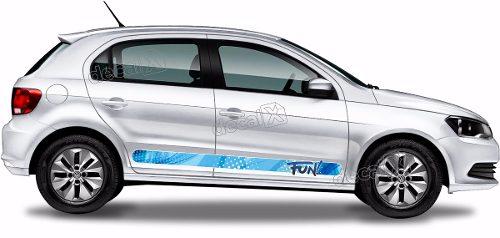 Adesivo Faixa Lateral Volkswagen Gol Fun Gol13