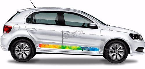 Adesivo Faixa Lateral Volkswagen Gol Fun G6 Gol14