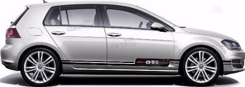 Adesivo Faixa Lateral Volkswagen Golf Gti Golf09