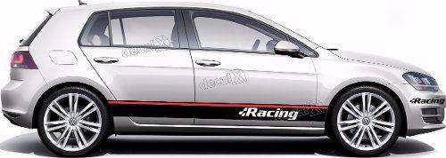 Kit Adesivo Faixa Lateral Volkswagen Golf Racing Golf12