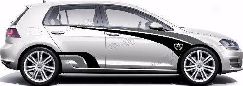 Adesivo Faixa Lateral Volkswagen Golf Racing Sport Golf15