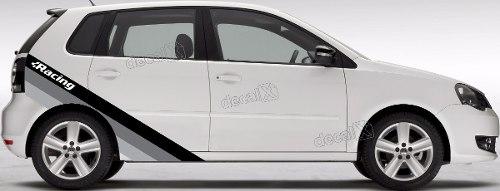 Adesivo Faixa Lateral Volkswagen Polo Racing Polo01