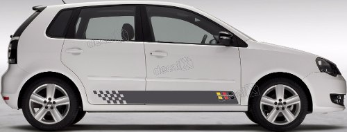 Adesivo Faixa Lateral Volkswagen Polo Motorsport Polo09