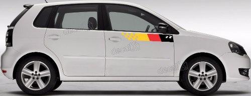 Adesivo Faixa Lateral Volkswagen Polo R-line Polo07