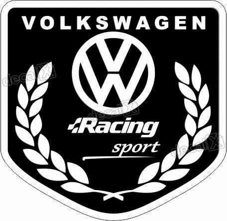 Adesivo Volkswagen Racing Sport Resinado Res06
