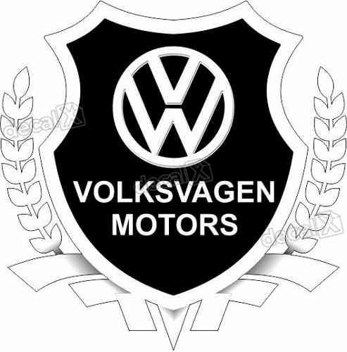 Adesivo Volkswagen Motors Resinado Res08