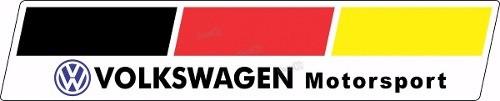 Adesivo Volkswagen Motorsport Resinado Res13