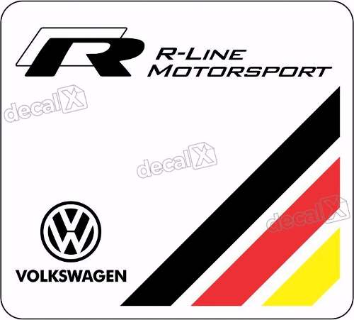 Adesivo Volkswagen R-line Motorsport Resinado Res16