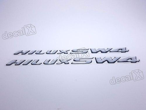Adesivo Emblema Toyota Hilux Sw4 Hlxrs01