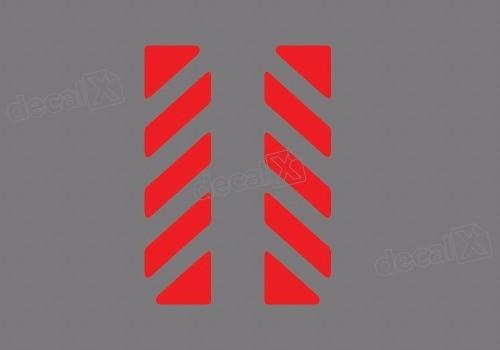 Adesivo Vermelho Refletivo Bau Bmw Bau03