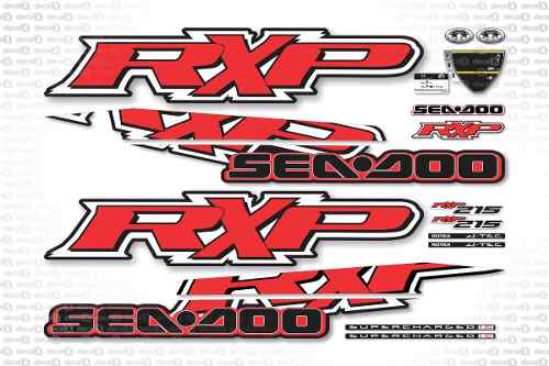 Kit Adesivo Jet Ski Sea Doo Rxp 215 Vermelho 2009 Sd17