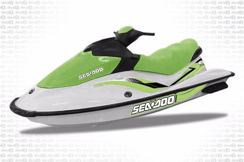 Kit Adesivo Jet Ski Sea Doo Gti 2007 Verde Sd20