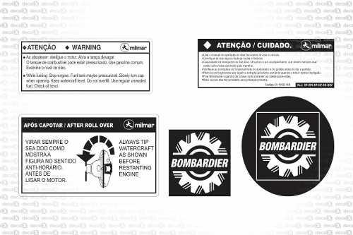 Kit Adesivo Jet Ski Sea Doo Sp 1997 Sdetq01