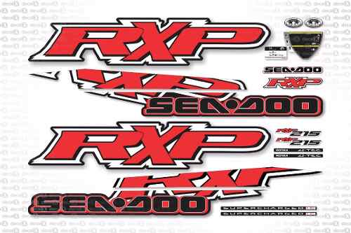 Kit Adesivo Jet Ski Sea Doo Rxp 215 Vermelho 2009 Sd9