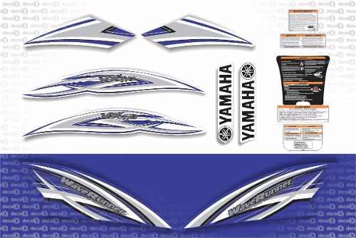 Kit Adesivo Jet Ski Yamaha Vx 110 Azul Jtki05