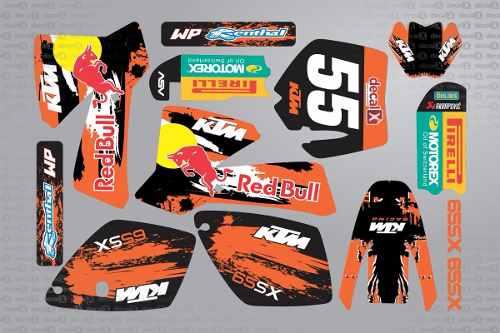 Kit Adesivo Moto Cross Trilha Ktm Sx65 2002 0,60mm 3m Mt020