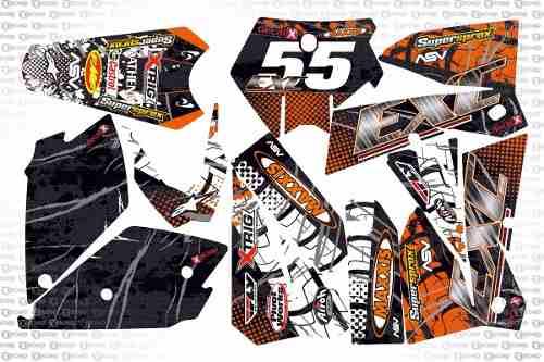 Kit Adesivo Moto Cross Trilha Ktm Exc 2007 0,60mm 3m Mt011