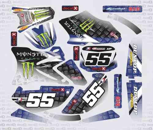 Kit Adesivo Moto Cross Trilha Yamaha Yz 85 2010 Mt003