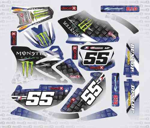 Kit Adesivo Moto Cross Trilha Yamaha Yz 85 2013 Mt003