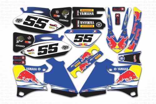Kit Adesivo Moto Cross Trilha Yamaha Wrf 250 426 2001 Mt006