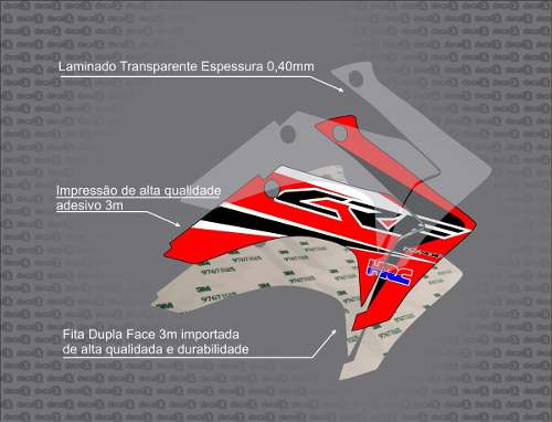 Kit Adesivo Moto Cross Trilha Yamaha Yz 80 1996 Mt009