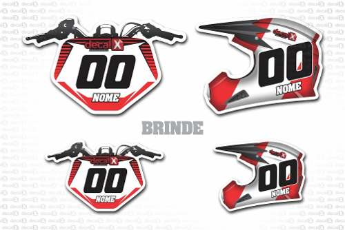 Kit Adesivo Moto Cross Trilha Yamaha Yz 250 450 2005 Mt010