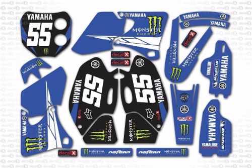 Kit Adesivo Moto Cross Trilha Yamaha Yz 400 2000 Mt012