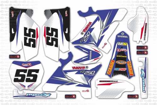Kit Adesivo Moto Cross Trilha Yamaha Yz 250 2009 Mt013
