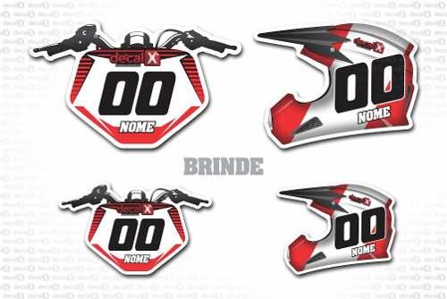 Kit Adesivo Moto Cross Trilha Yamaha Yz 250 2012 Mt013
