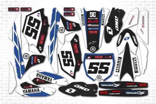 Kit Adesivo Moto Cross Trilha Yamaha Yz 250 450 2014 Mt023