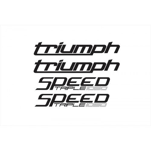 Kit Adesivos Triumph Speed Triple 1050 Dourada St005