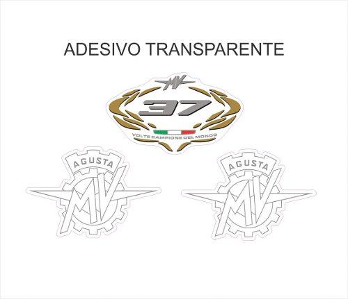 Kit Adesivo Mv Agusta F4 Tanque Preto Ag018