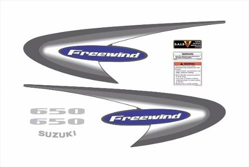 Kit Adesivos Suzuki Freewind 650 2002 Azul Fwd016