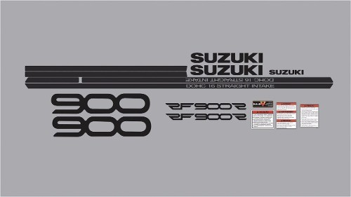 Kit Adesivos Suzuki Rf900 Rf 900 1995 Branca E Prata Rf005