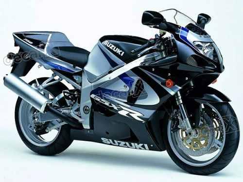 Kit Adesivos Suzuki Gsxr 750 2000 Preta E Prata 75000pt