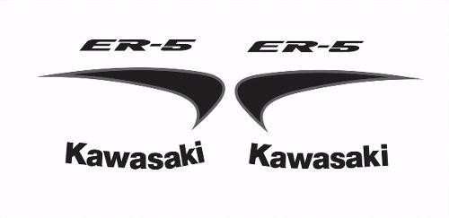 Kit Adesivos Kawasaki Er-5n Branca Er5bra