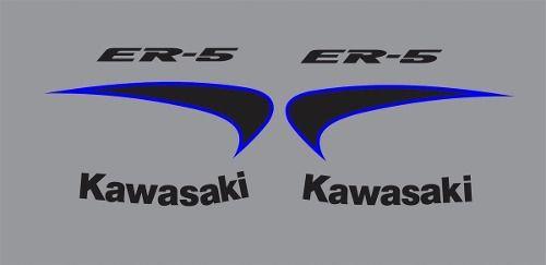 Kit Adesivos Kawasaki Er-5n Prata Er5pra