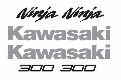 Kit Adesivo Kawasaki Ninja 300 Branca Nj002