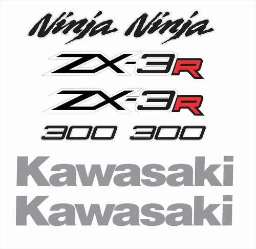Kit Adesivo Kawasaki Ninja 300 Zx-3r Branca Nj016