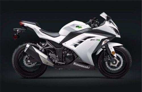 Kit Adesivo Kawasaki Ninja 300 Zx-3r Branca Nj017