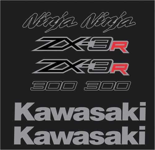 Kit Adesivo Kawasaki Ninja 300 Zx-3r Preta Nj019