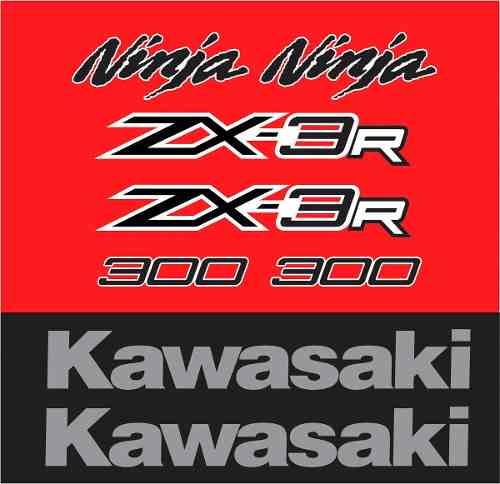 Kit Adesivo Kawasaki Ninja 300 Zx-3r Vermelha Nj021