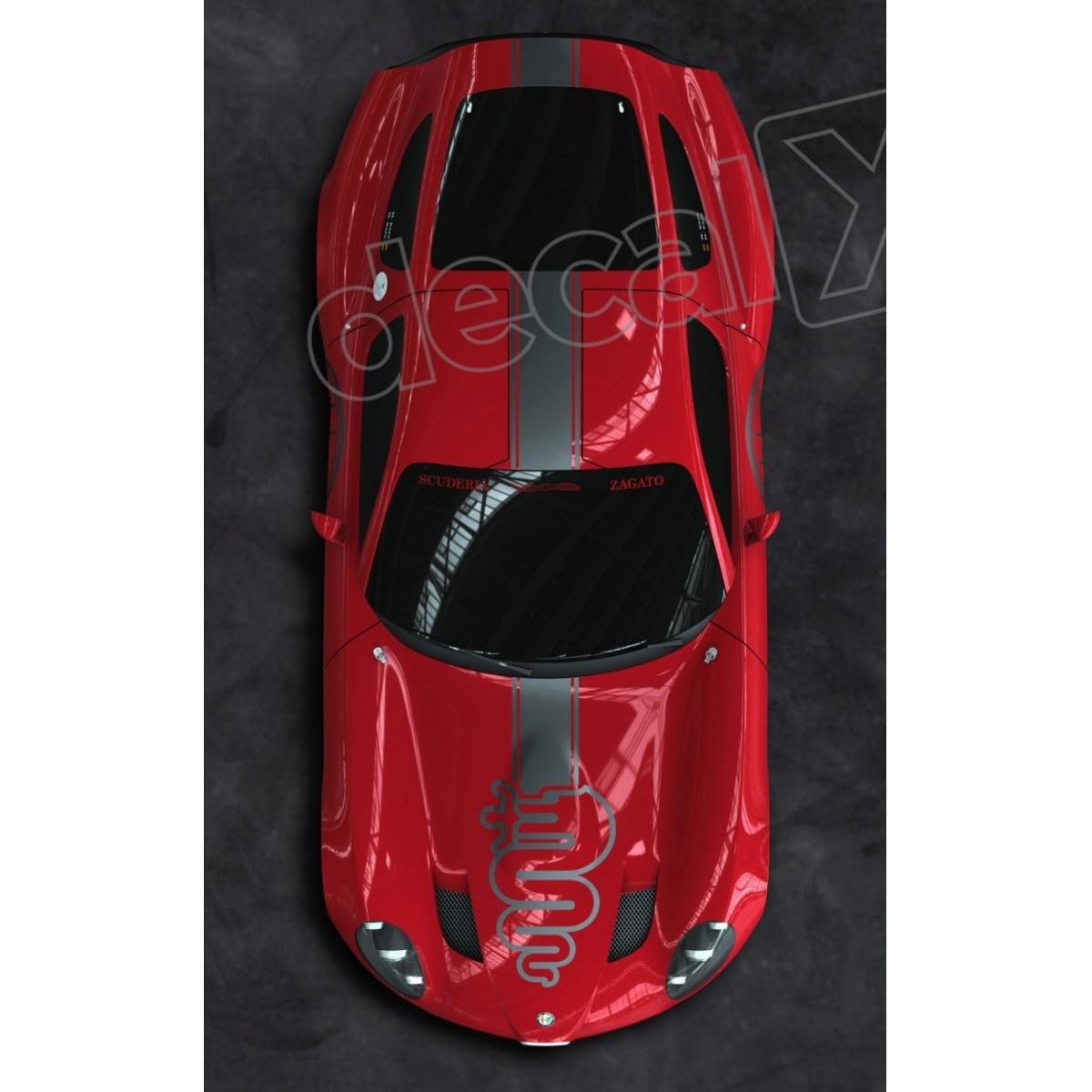 Adesivo Alfa Romeo Faixa Capo Teto Mala 3m Ct01
