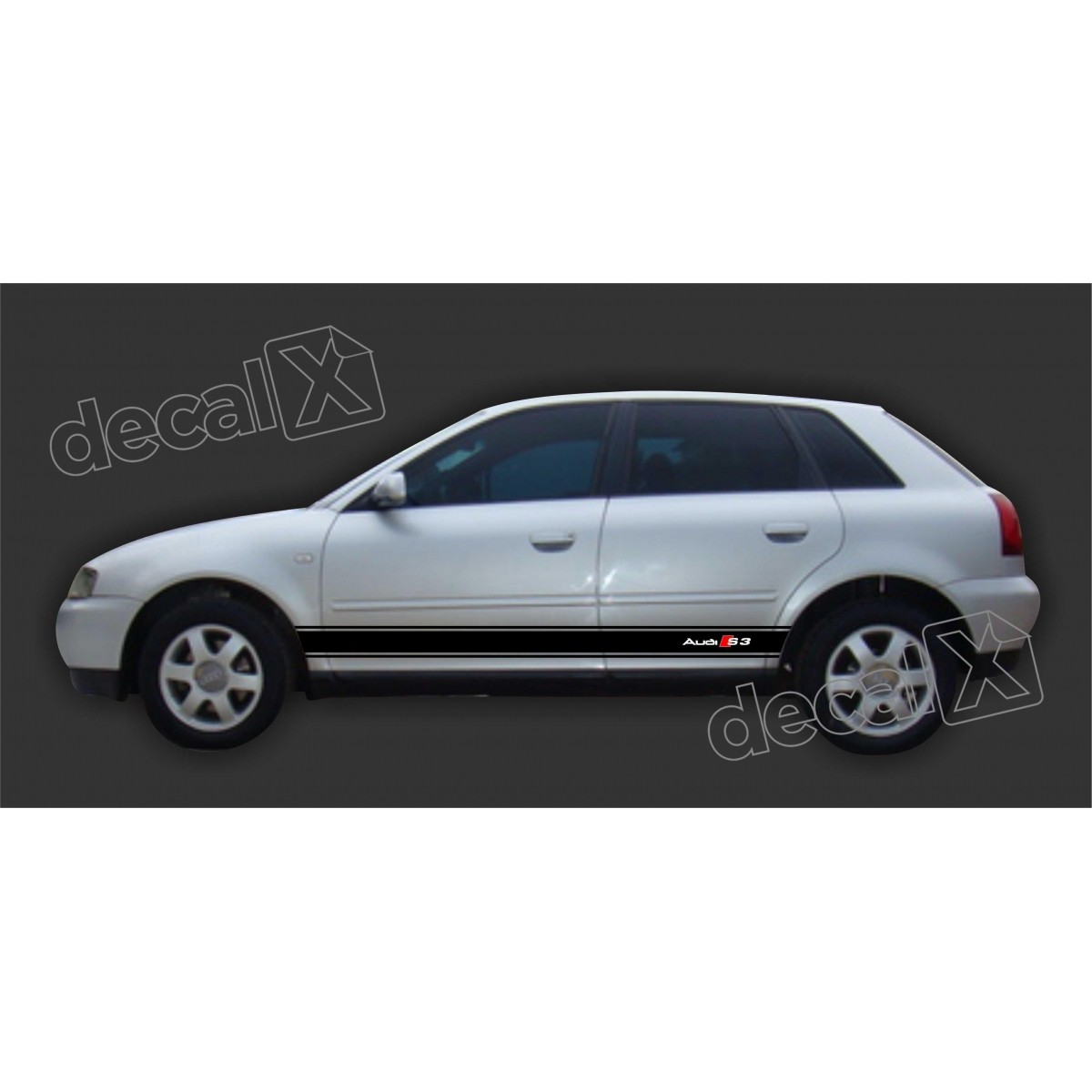 Adesivo Audi A3 Lateral A38
