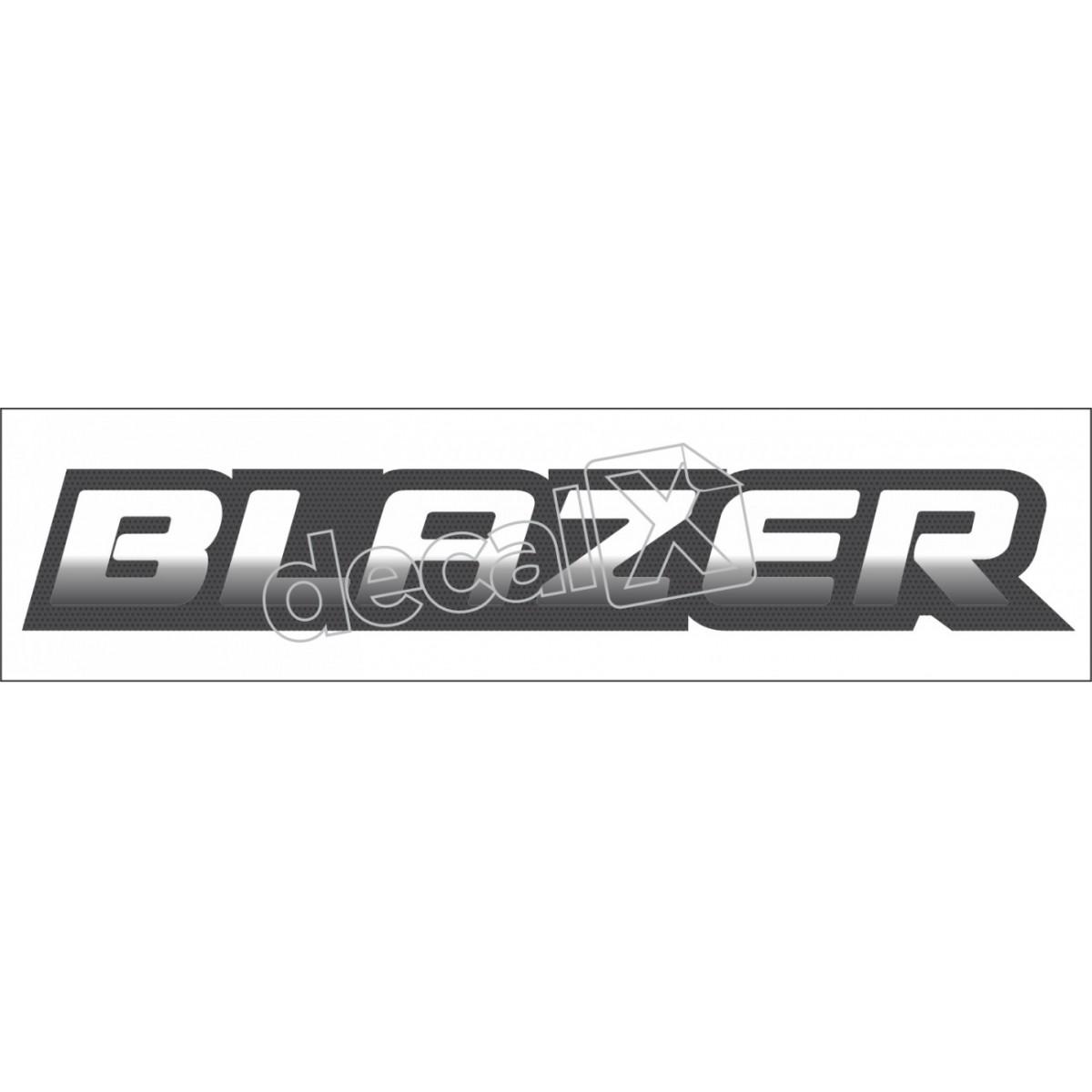 Adesivo Blazer Aço Escovado Ba002